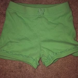 The Children's Place Baby Girl Green Shorts 18-24M